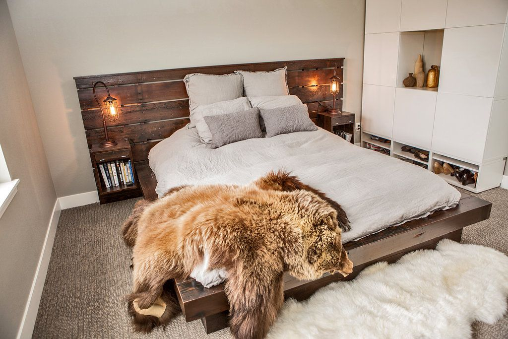 Floating Bed With Headboard And Built