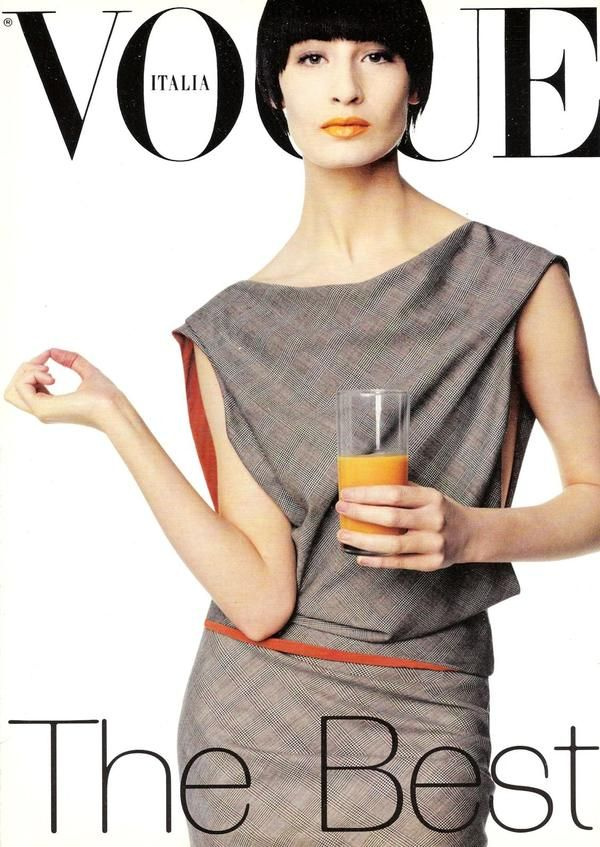 Vogue Italy cover with Erin O'Connor - January 1998