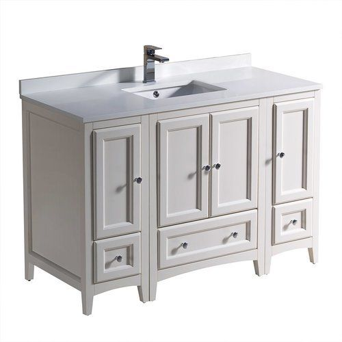 Fresca Oxford 48 Antique White Traditional Bathroom Cabinets W