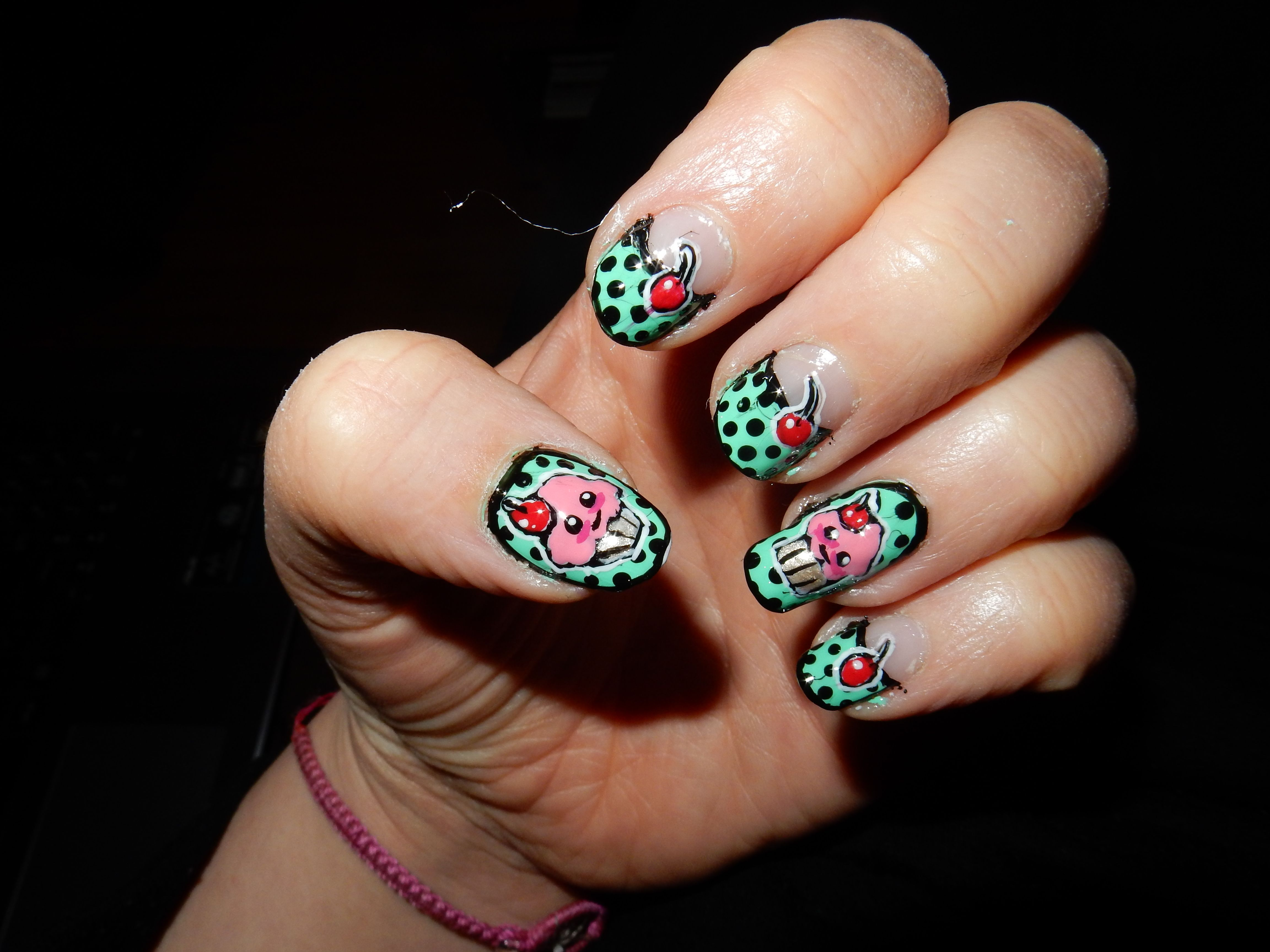 cupcake vintage nail art | Vintage nails, Vintage nail art ...