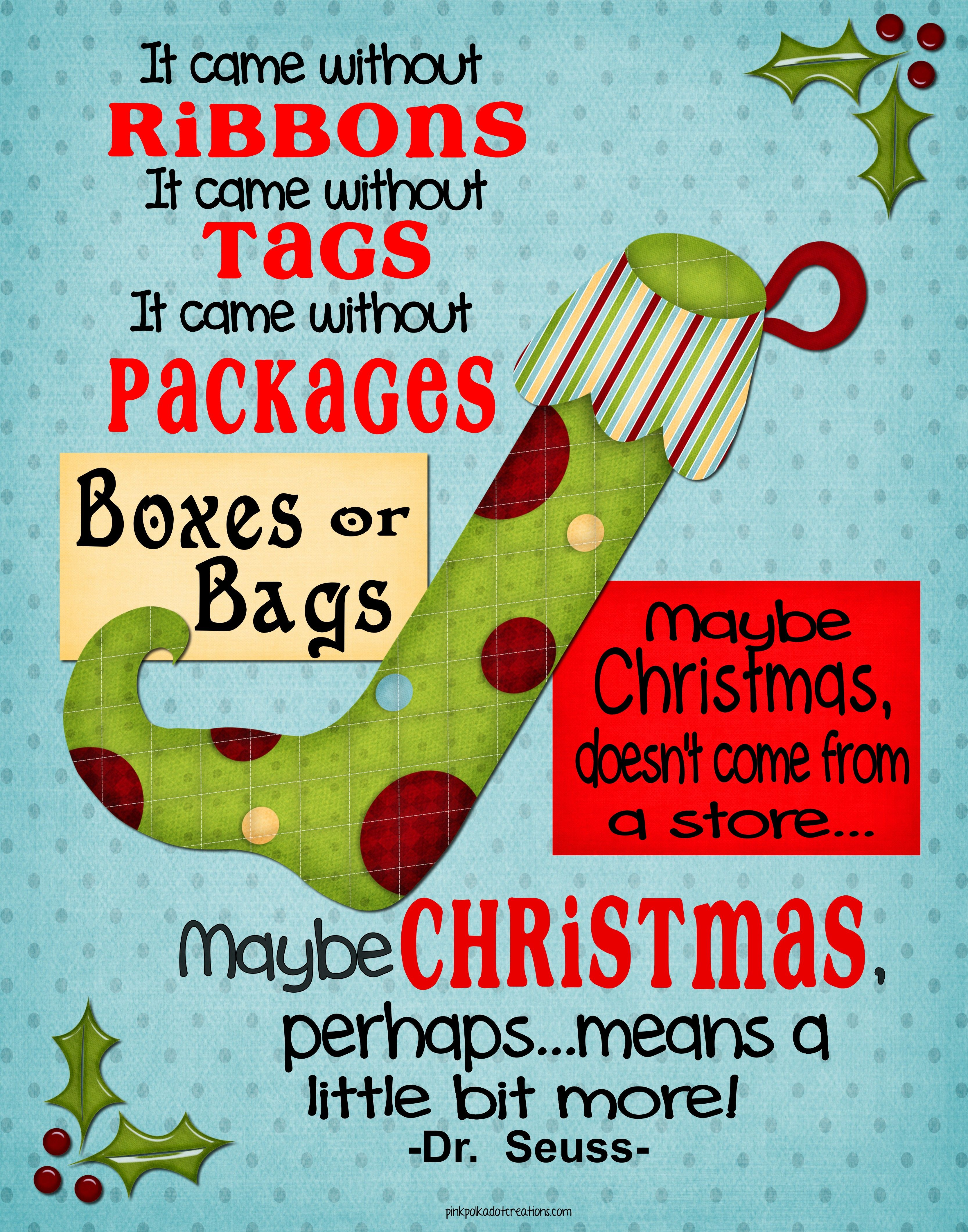 Whimsical Christmas Frame And Free Printables