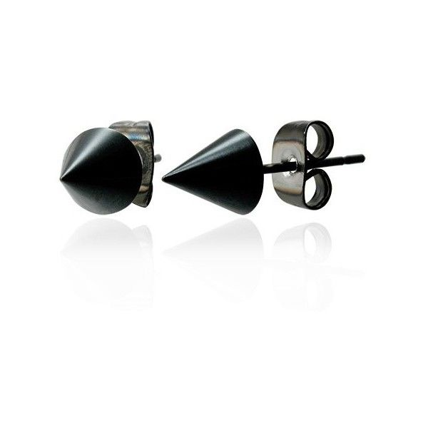 Earring Sets Set Two Black Anodised Spike Earrings Mens 13 Liked On Polyvore Featuring Men S Fashion Jewelry