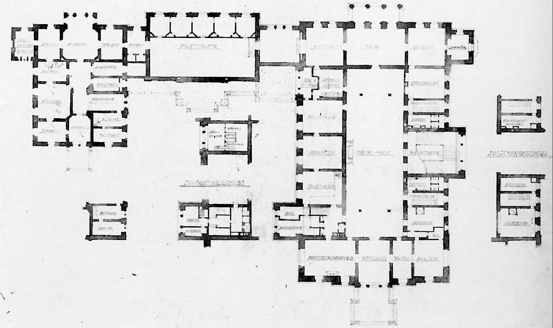 Villa hugel first floor plan grundriss map for Villa grundriss