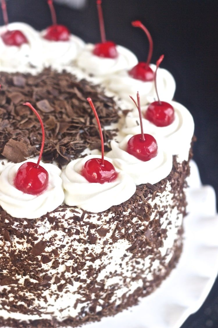 best black forest cake with cherries and whipped cream black forest cake on hebbar s kitchen cake recipes id=72517