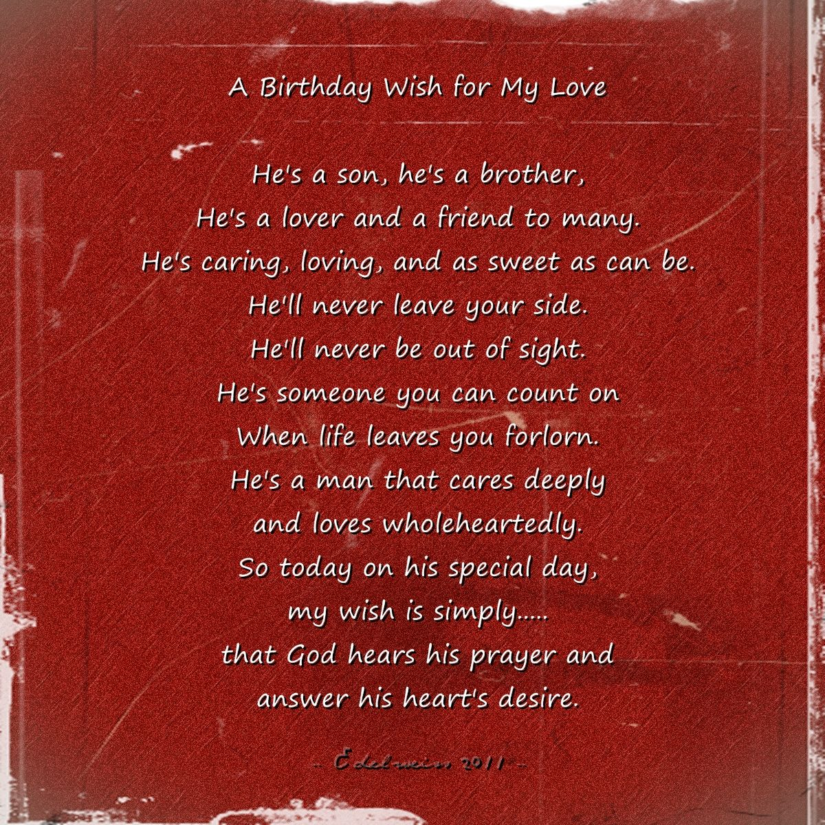 Love Quotes For Him: Happy Birthday My Love Quotes Poems