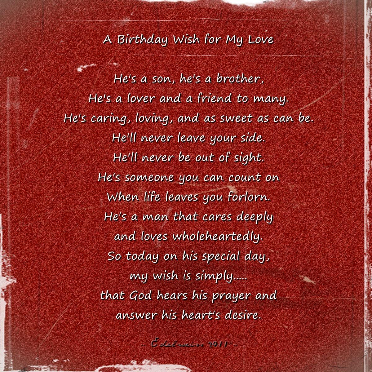 Happy Birthday My Love! ♥