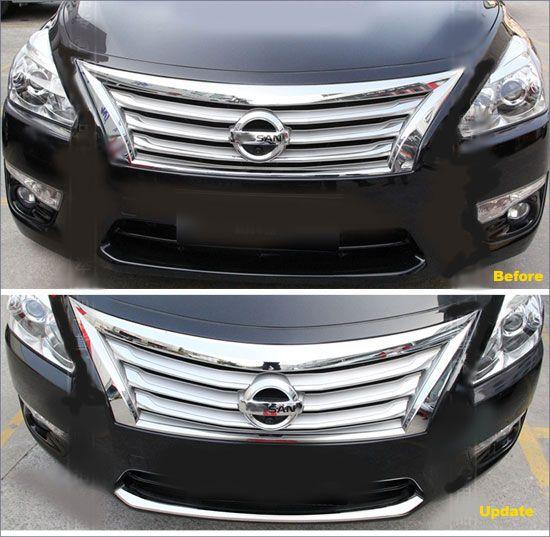 2013-2015 Nissan Altima Chrome Lower Bumper Accent Trim   slow ...