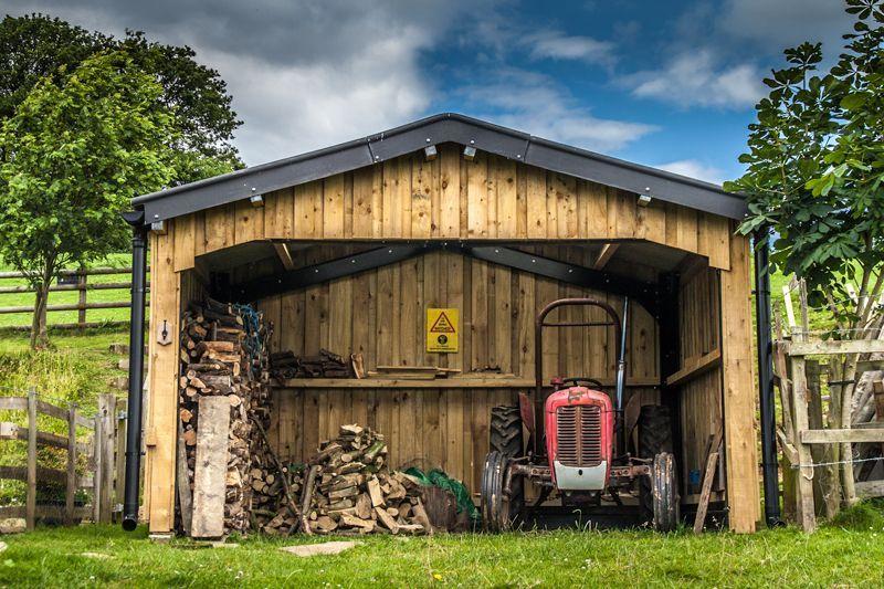 Tractor/Log Store Steel buildings, Building, House styles