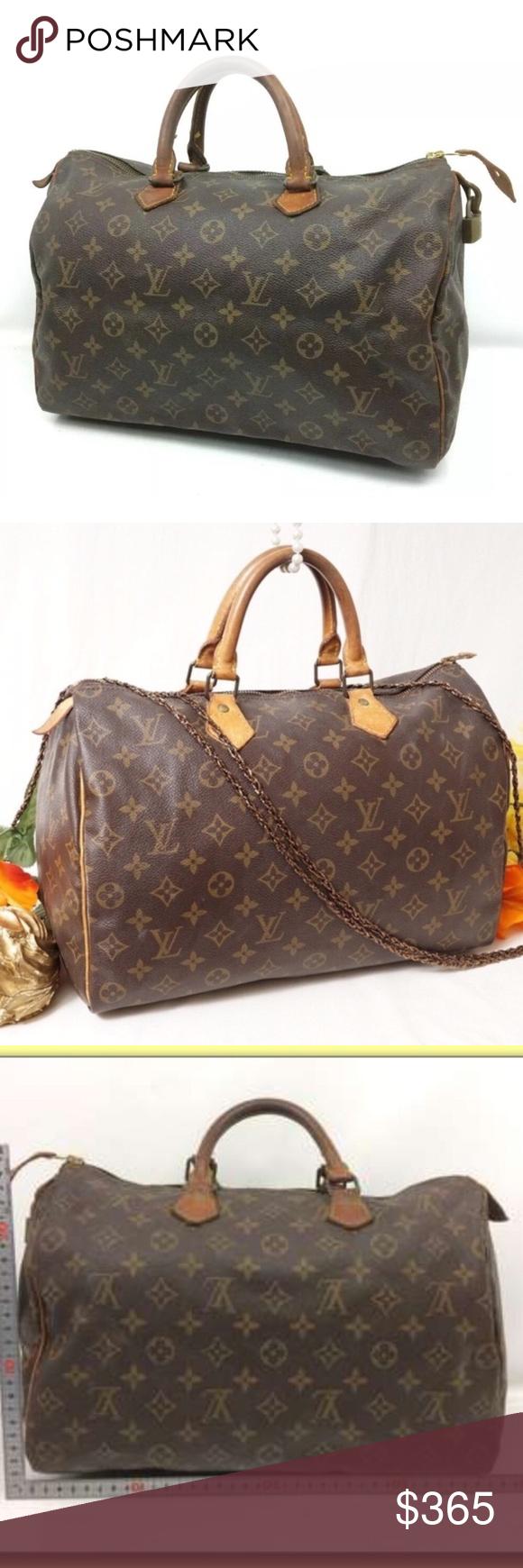 Authentic Louis Vuitton Speedy 35 Vtg Satchel Bag Satchel Bags Louis Vuitton Speedy 35 Bags