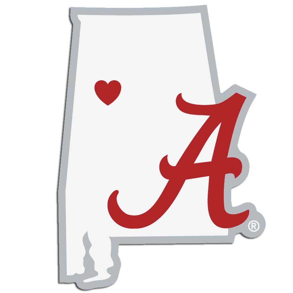 Alabama crimson tide home state decal alabama crimson for Alabama football mural