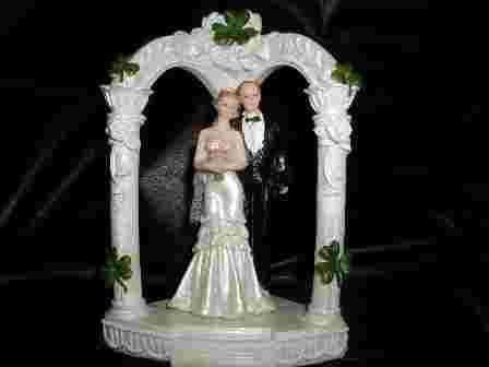 Shamrock Wedding Cake Toppers
