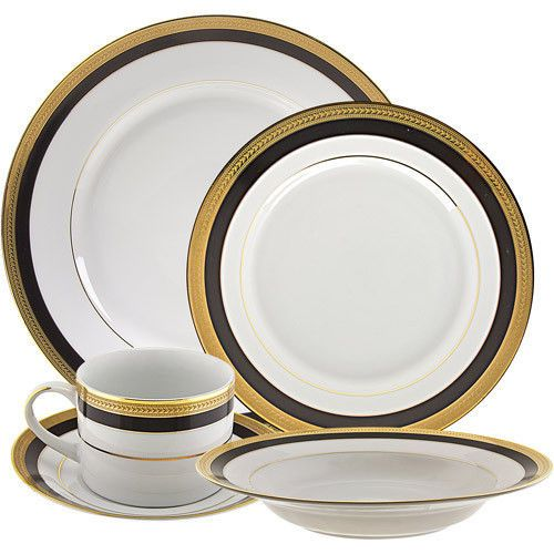 10 Strawberry Street Sahara 20-Piece Dinnerware Set Cup Saucer White Black Gold  sc 1 st  Pinterest & 10 Strawberry Street Sahara 20-Piece Dinnerware Set Cup Saucer White ...