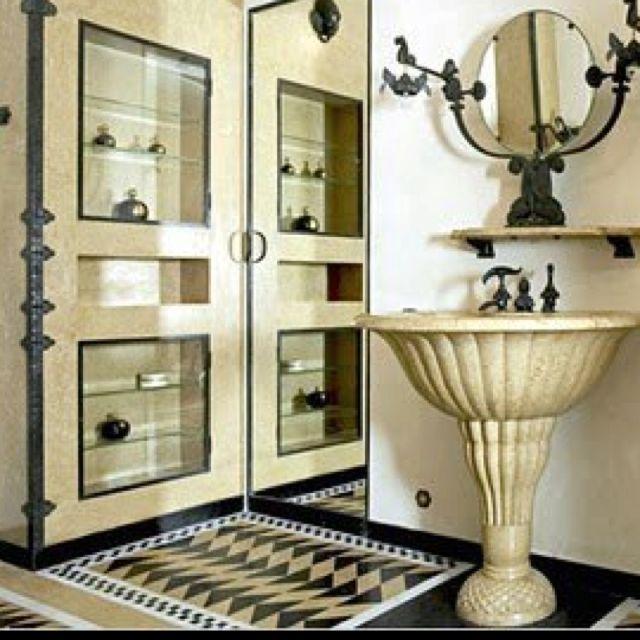 Art Deco Paris Apartment: The Bathroom Of Jeanne Lanvin's Apartment, Designed By