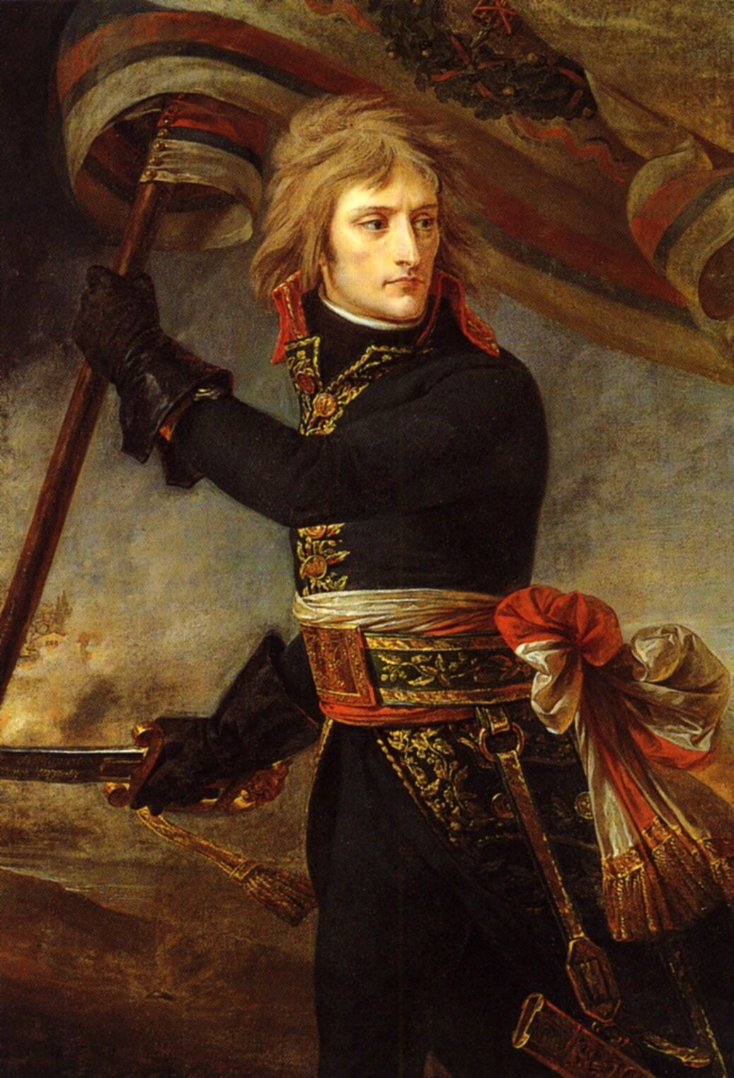 GROS NAPOLEON BONAPARTE ARCOLE BRIDGE Poster Painting Portrait Canvas art Prints