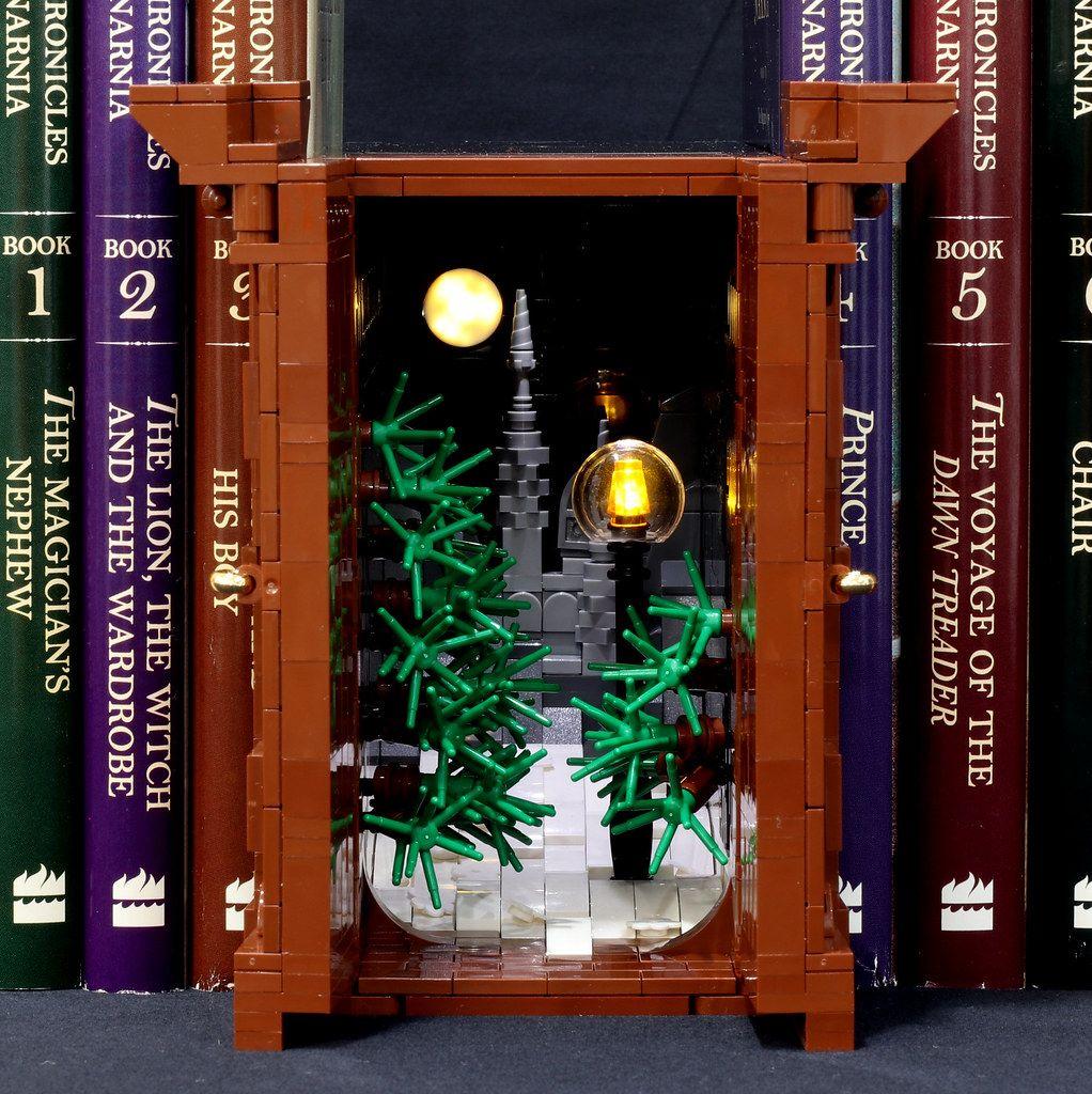 Narnia Wardrobe Book Nook Inside Book Nooks Narnia Wardrobe Traditional Bookends