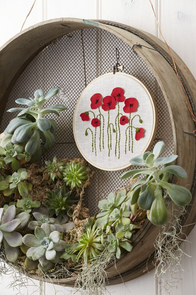 Better Homes And Gardens Craft Ideas Part - 32: Better Homes And Gardens April 2015 Project Diagrams: Poppies Made With  Love -