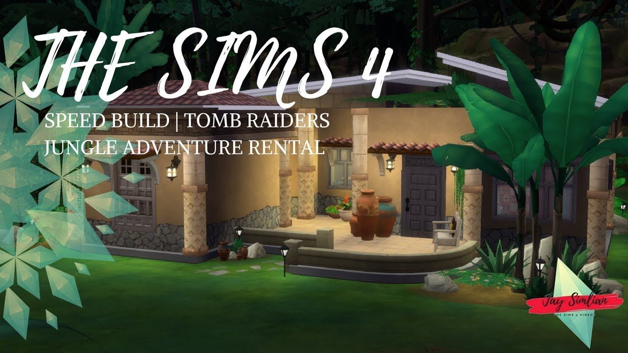 Speed Build The Sims 4 Tomb Raider S Jungle Adventure Rental