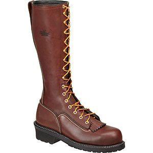 Brown Composite Toe Lineman's Boot