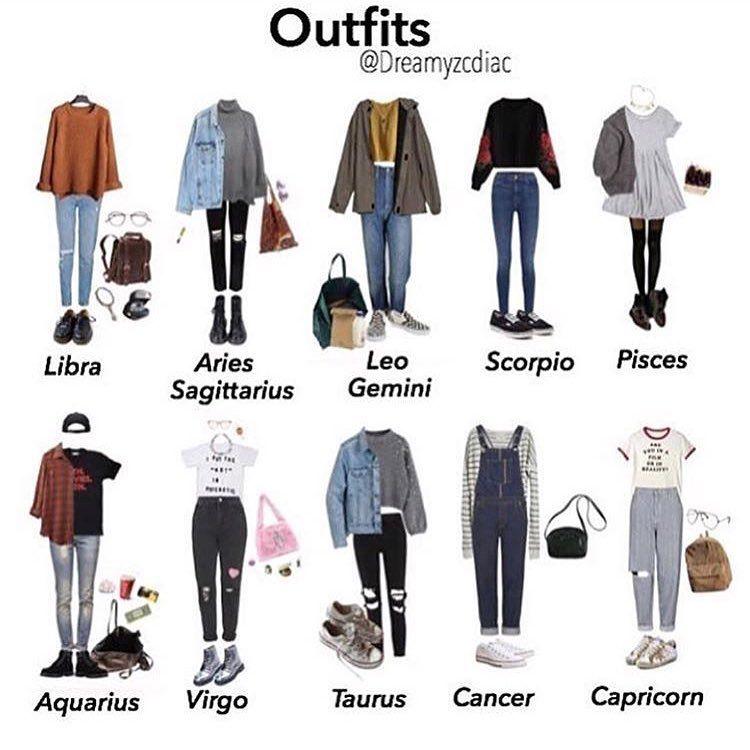 Sternzeichen outfits