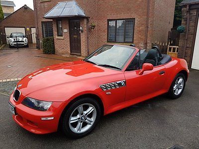 2001 Bmw Z3 2 2 Roadster 2d 168 Bhp Red Black Leather Convertable
