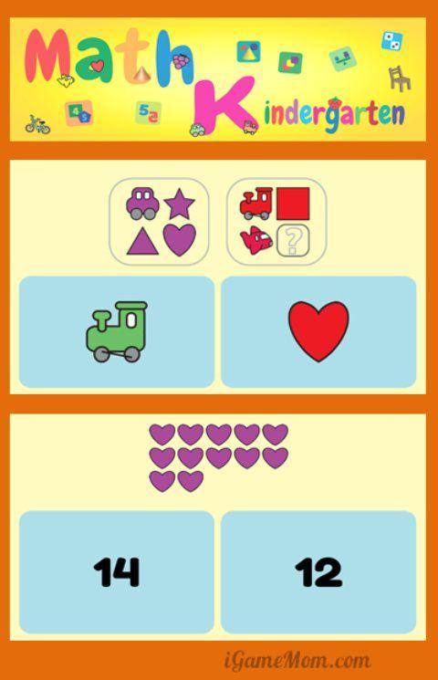Fun Math App for Kindergarten Kids Kindergarten kids