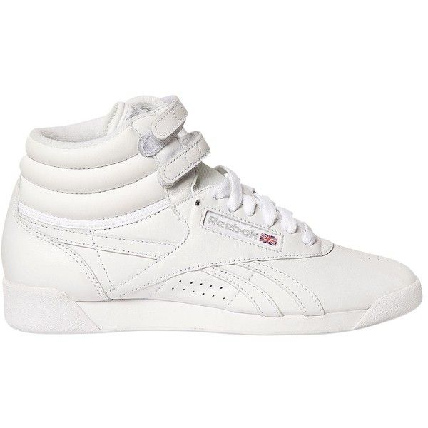 a203e4cba28 Reebok Classics Women Freestyle Leather High Top Sneakers (£84) ❤ liked on  Polyvore