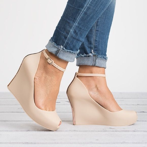 90f2d9c8d victoria adames Shoes -  30 Madeira Nude Jelly Open Toe Wedges ...