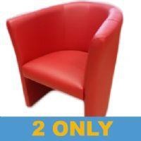 Reception Tub Chair Red Stakelum Office Supplies Stationery Ireland School Books Online