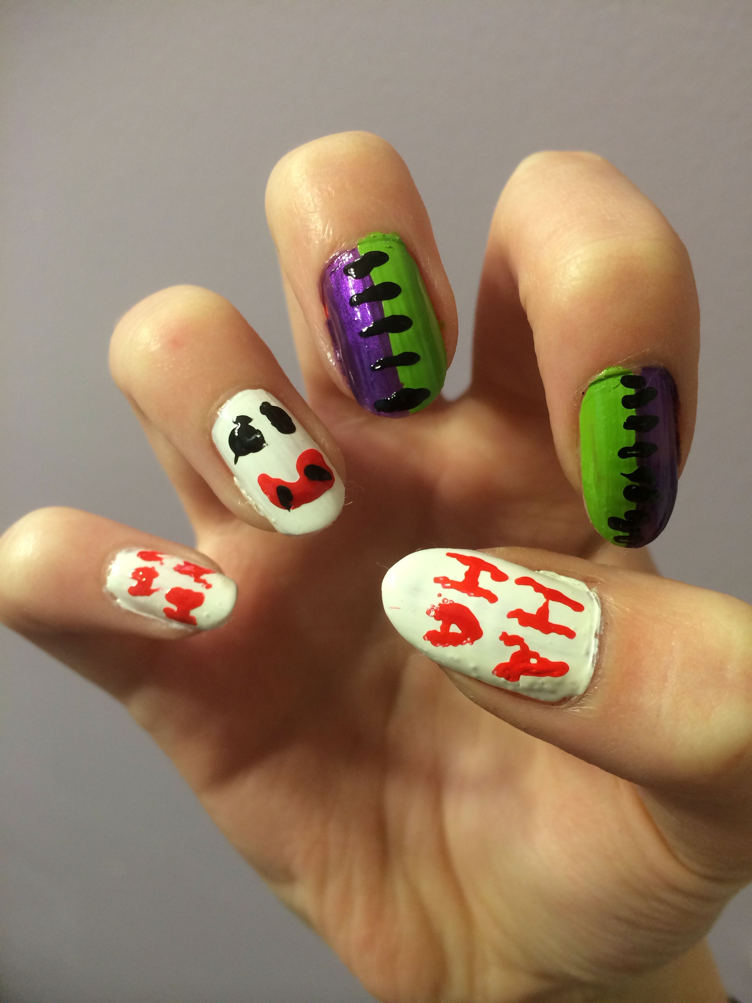 The Joker nails DC #NailArt | Nail Art | Pinterest | Joker
