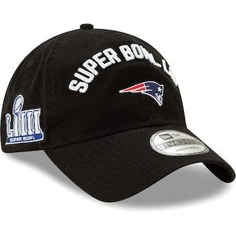 6f469accd6a6 New Era New England Patriots Black Super Bowl LIII Bound 9TWENTY Adjustable  Hat