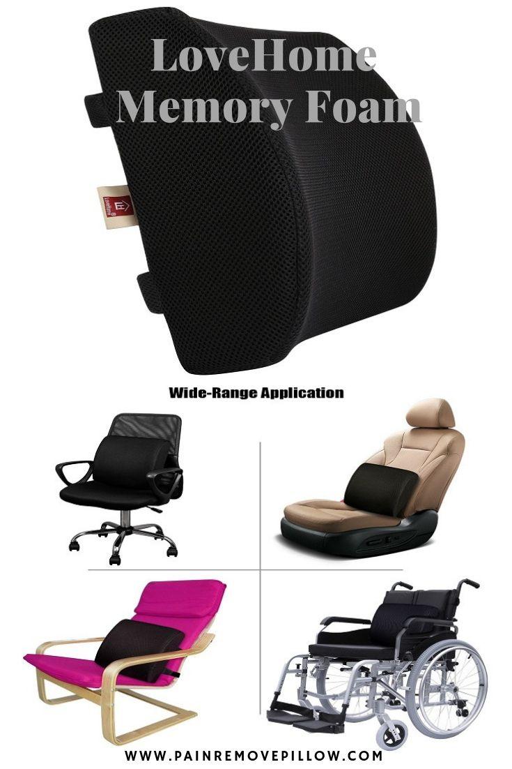 Lovehome memory foam lumbar support lumbar support