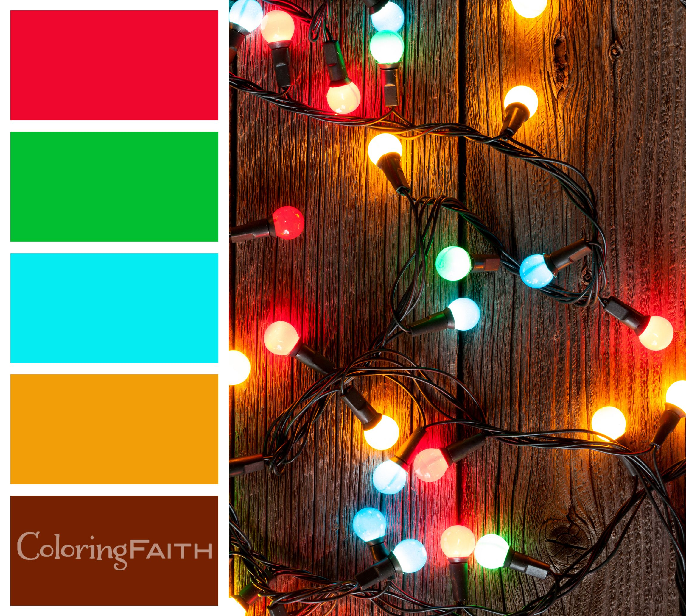 Christmas Lights Color Palette