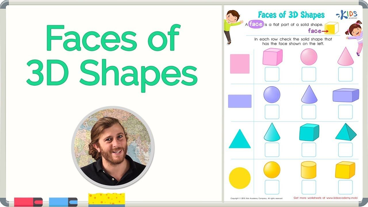 small resolution of Faces of 3D Shapes   Geometry   Math for 2nd Grade   Kids Academy #math  #school …   Kindergarten math worksheets