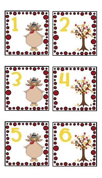 creating  teaching Free November Calendar Cards Calendar