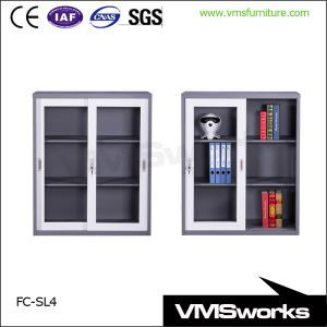China Half Height Lockable Gl Door Small Office Storage Cupboards With Shelves File