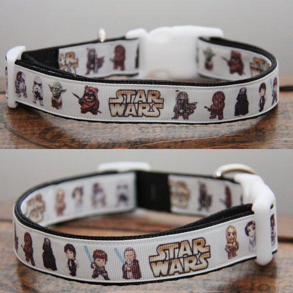 #StarWars #Dog #Collar - Héhé ! Je verrais bien ce collier au cou de mon toutou ! Pas vous ?? :-)