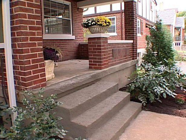 Best Simple Poured Concrete Painted Concrete Steps Painted 400 x 300