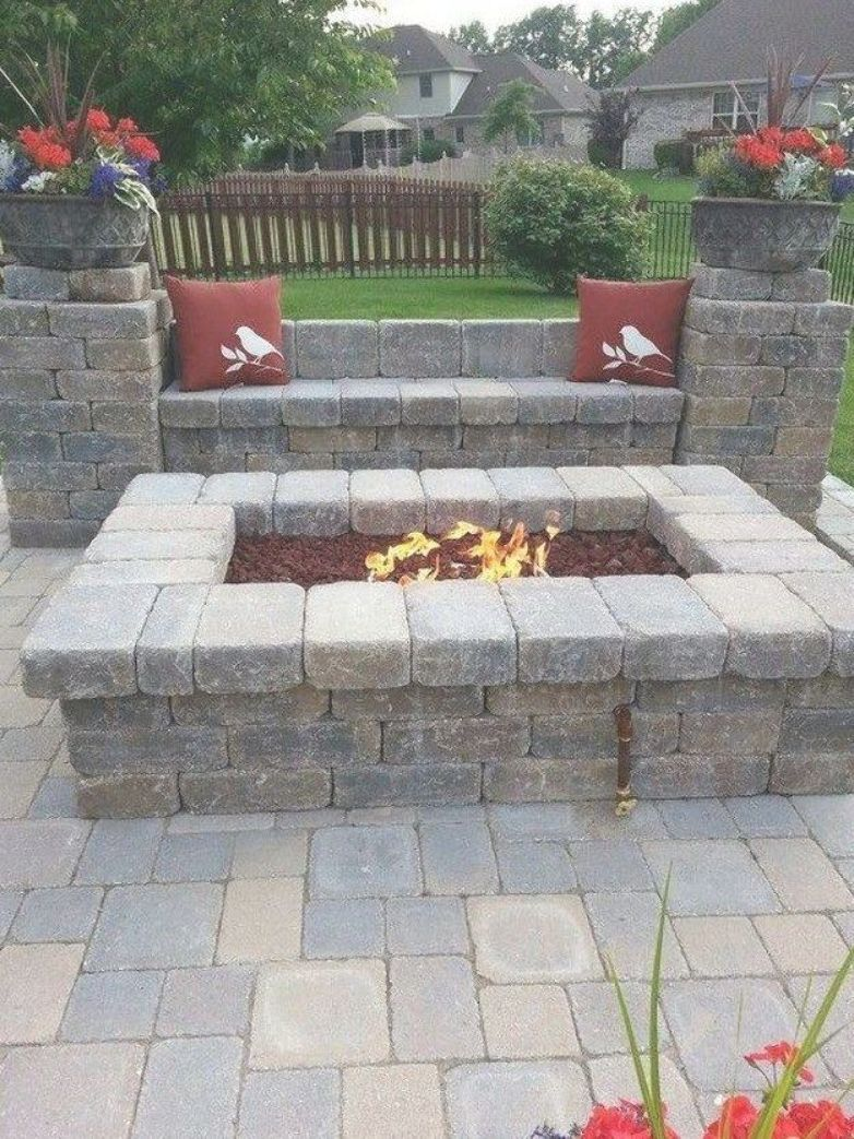 60 Small Paver Patio Ideas Pictures With Fire Pit 7