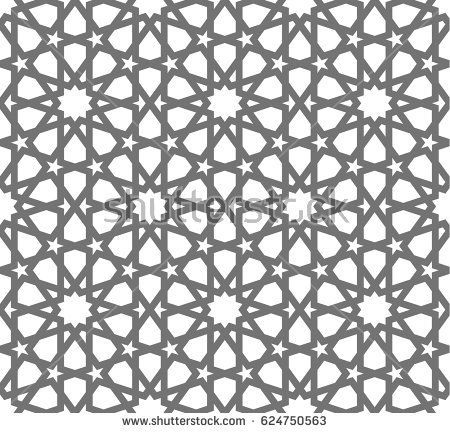 oriental muslim mosaic turkish arabian moroccan design on a white background mosque decoration element islamic seamless vector pattern geometric