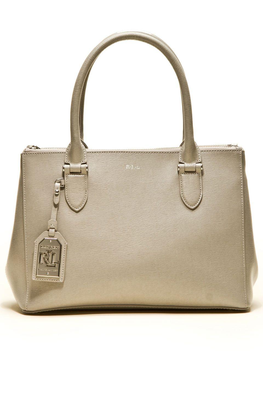 Ralph Lauren - Newbury Double Zip Shopper in Dove Gray   Purses Bags ... 8c99a8e1ff