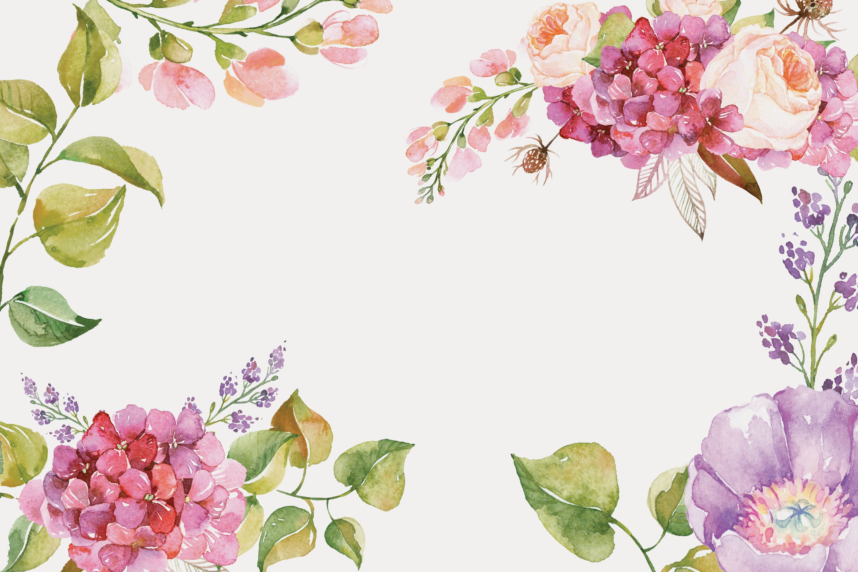 Posters Floral Watercolor Background In 2020 Floral Watercolor