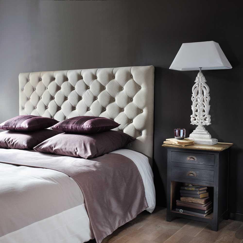 tête de lit capitonnée en lin l 160 cm | bedrooms, chesterfield and