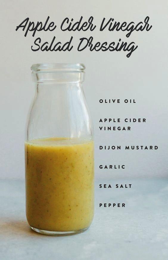 Cider Vinegar Salad Dressing with olive oil, acv, mustard, garlic, salt and pepper by corinaApple C