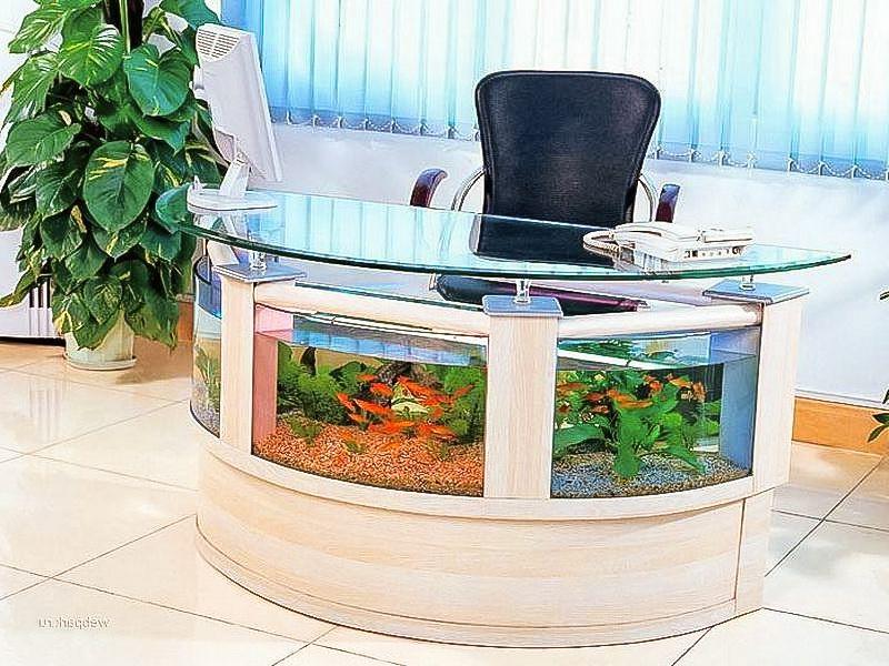 Aquarium Office Desk Fish Tank Coffee Table Aquarium Decorations Home Aquarium