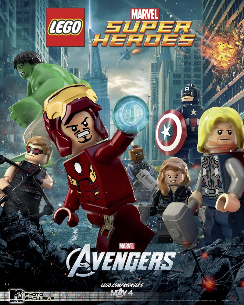 News Entertainment Music Movies Celebrity Lego Poster Lego Marvel Super Heroes Avengers Poster