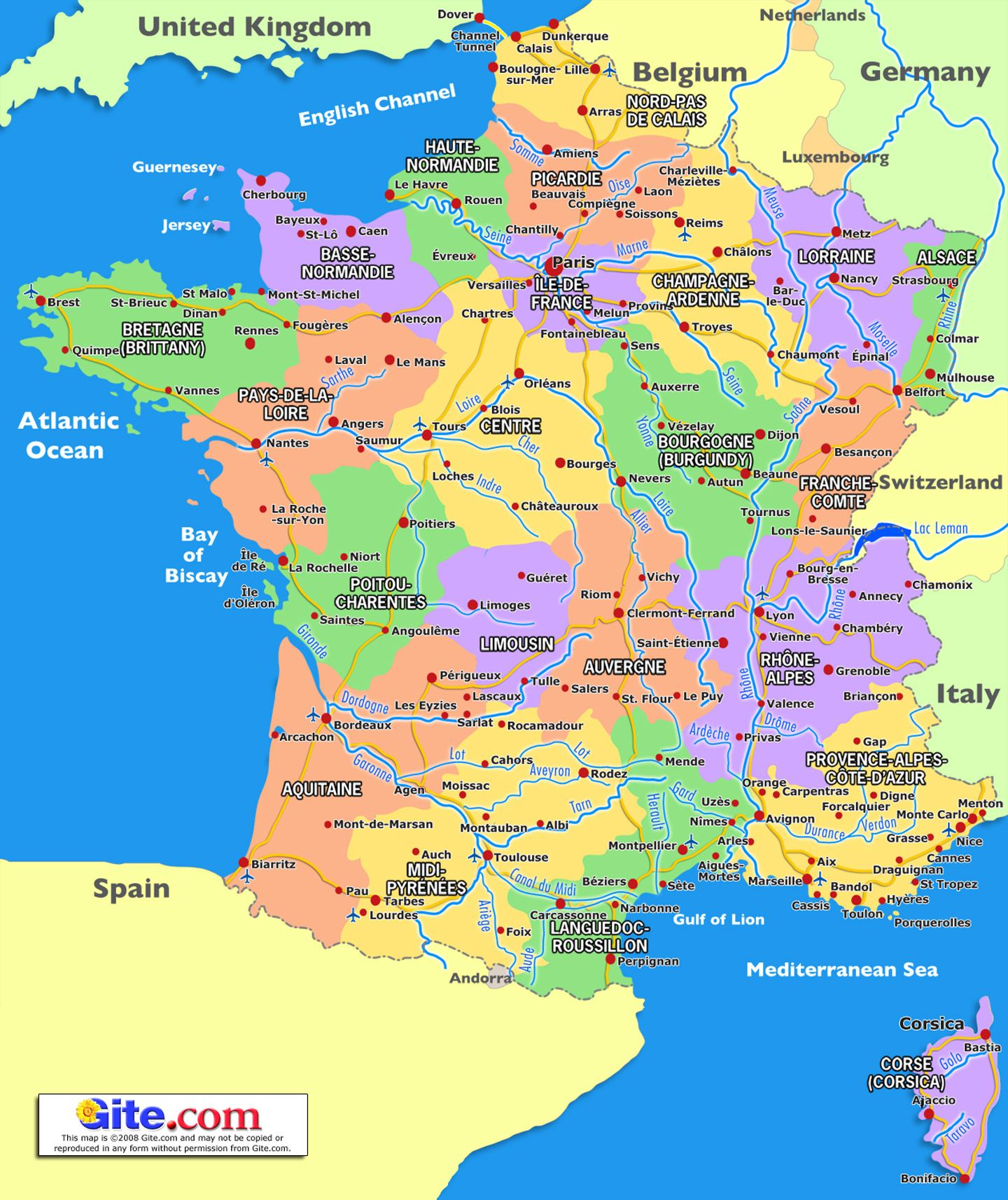 Dorogone region of France | map-of-france-regions.jpg | France ...