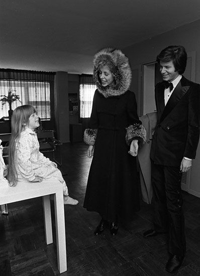 Calvin Klein with wife, Jayne Centre, and daughter Marci, 1971