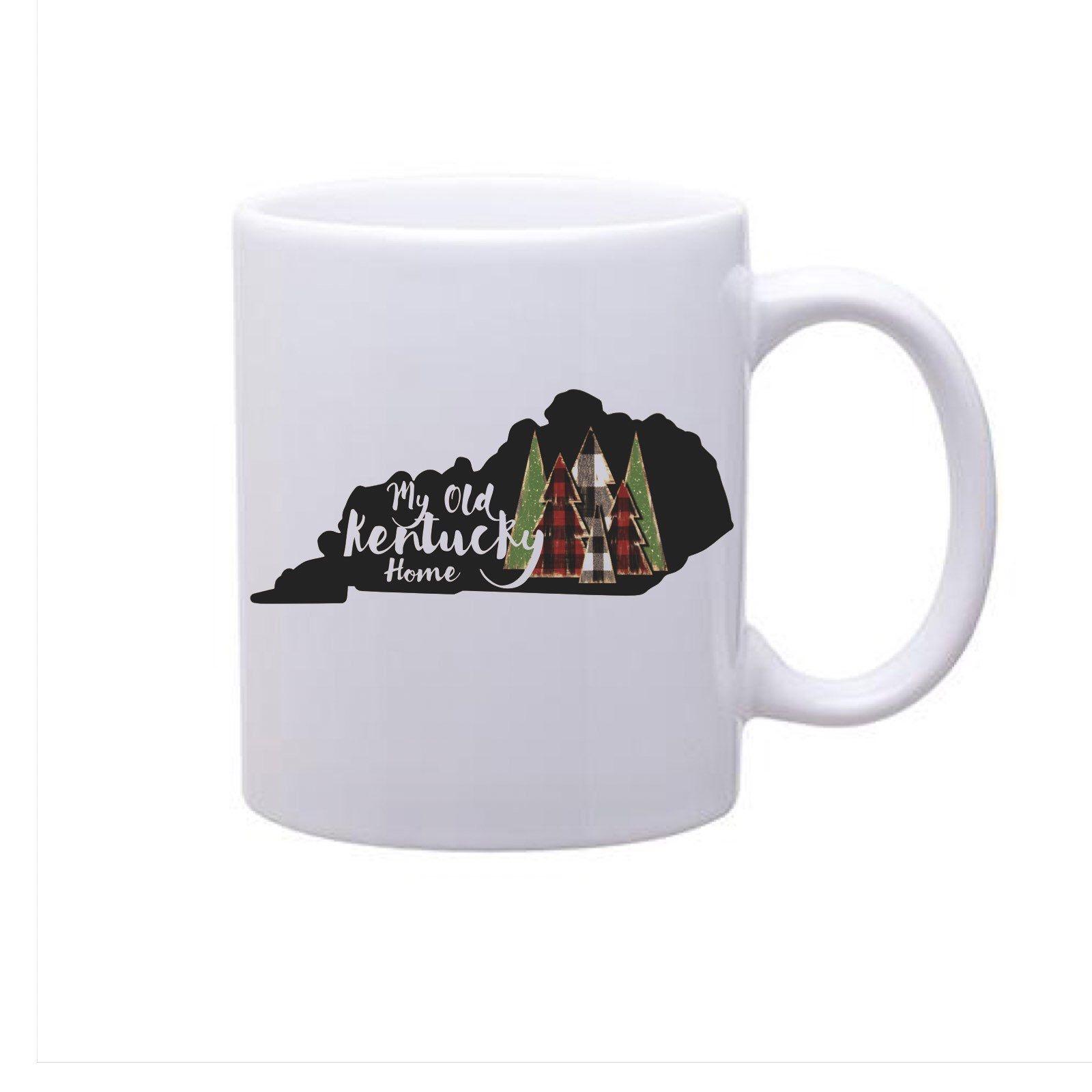 My Old Kentucky Home Christmas Mug Christmas Mugs Mugs Custom Printed Mugs
