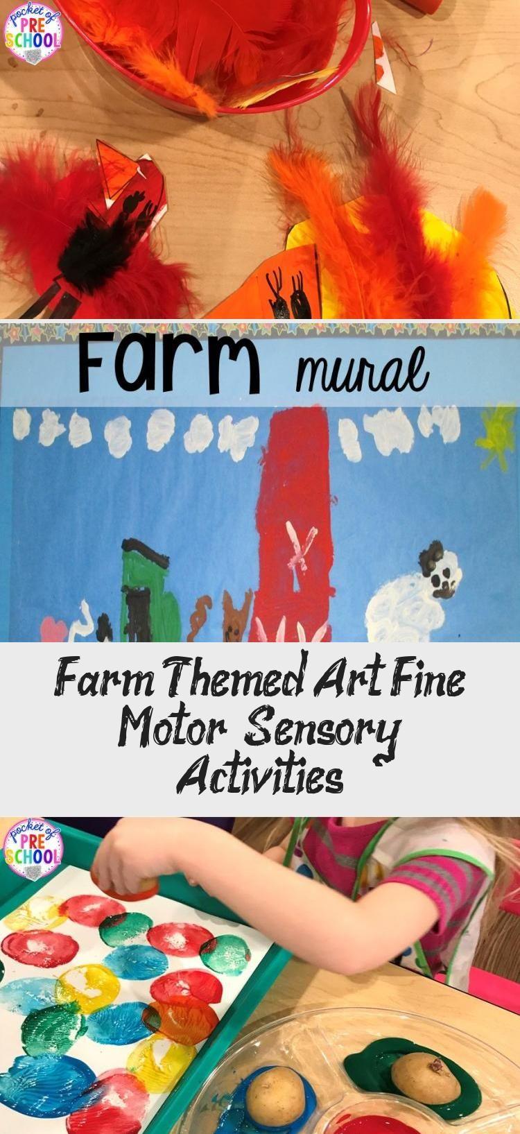 Farm Themed Art, Fine Motor, & Sensory Activities - Pocket ...