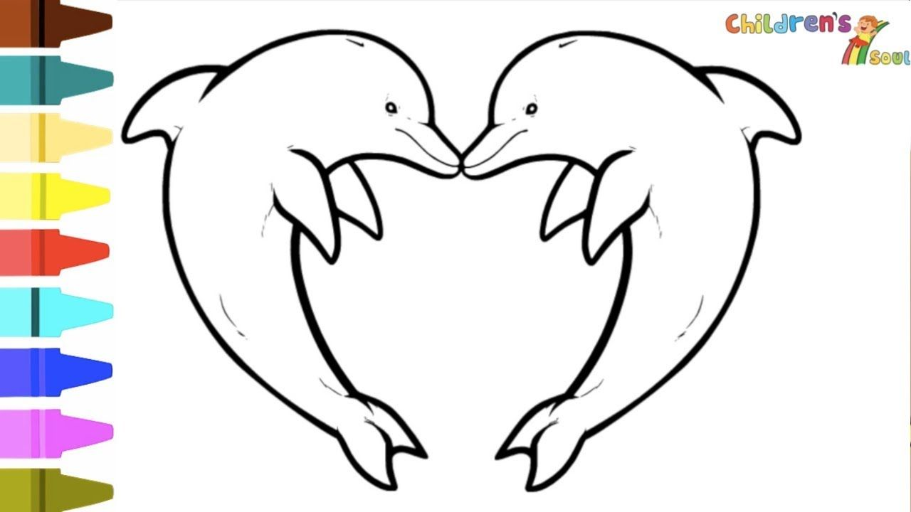 Dolphin Coloring Pages For Kids Dolphins For Kids Baby Dolphin Coloring Kids Dolphin Dolphin Coloring Pages How To Draw Dolphin Drawing Videos For Kids